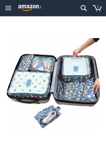 HiDay 7 Set cubi da viaggio
